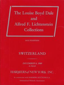 Switzerland, The Dale Lichtenstein Collection, Sale 14. 1989 Harmers Auction