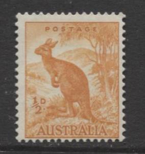Australia - Scott 166 -  Kangaroo -1942- MVLH - Perf.15 x14 - Single 1/2d stamp