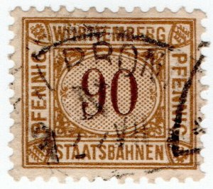 (I.B) Germany Railway : Wurttemburg Staatsbahnen 90pf