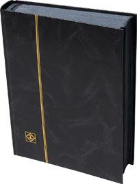 Lighthouse, Stockbook, 64 Black Pages, Black Cover, 01354
