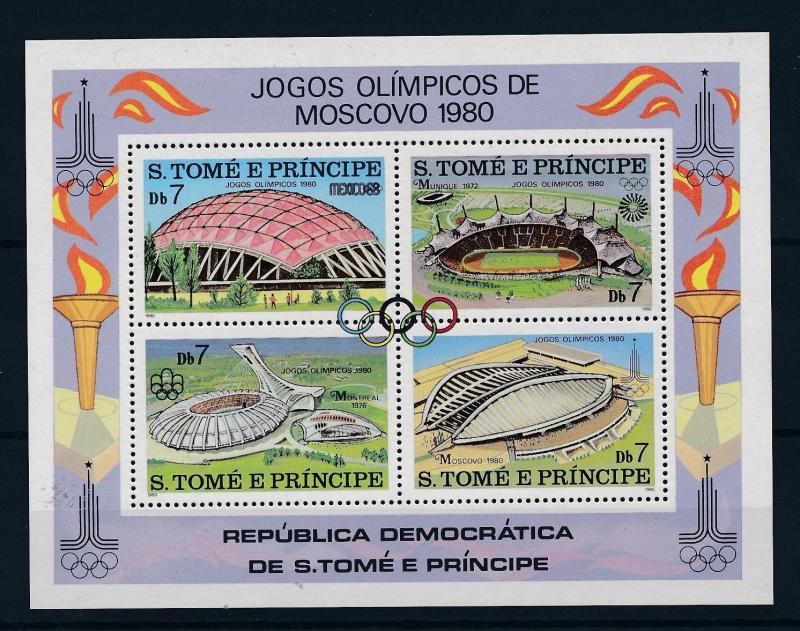 [44938] Sao Tome & Principe 1980 Olympic games Moscow MNH Sheet