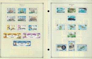 Tuvalu 1976-1991 M & First Day Cancelled Hinged on Scott Int. Pages Thru 1999