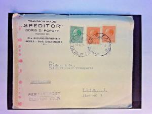 Bulgaria 1943 Censor Cover (Missing Tape) to Germany - Z1087