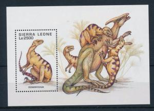[28723] Sierra Leone 1995 Pre Historic Animals Dinosaurs MNH Sheet