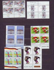 Z662 JLstamps 1998 germany sets of 1 blk,s 4 mnh #1988,1990,2016,2018,2020,2023