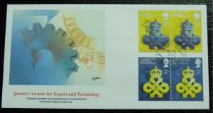 3046   G.B.   FDC   # 1319a, 1321a    Export & Technology - 25th Anniversary