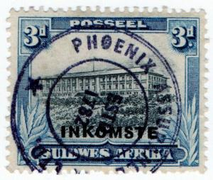 (I.B) South-West Africa Revenue : Duty Stamp 3d