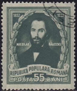 Romania - 1952 - Scott #914 - used - Nicolae Balcescu