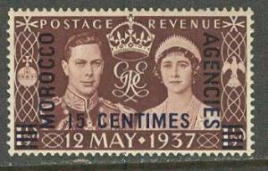 Great Britain-Morocco # 439  Geo VI Coronation (1)  Unused VLH