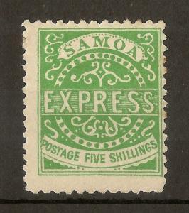 Samoa 1877-80 5/- Express Mint
