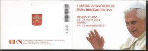 RJ) 2012 VATICAN CITY, BOOKLET, APOSTOLIC VISIT OF HIS HOLINESS BENEDICT