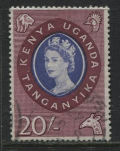 Kenya Uganda Tanganyika QEII 1960 20/ used