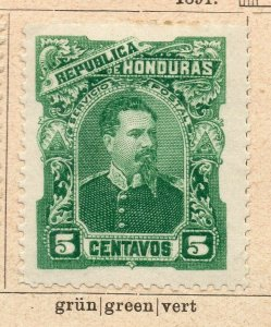 Honduras 1891 Early Issue Fine Mint Hinged 5c. NW-11892