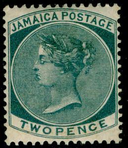 JAMAICA SG20a, 2d slate, LH MINT. Cat £110. WMK CA.