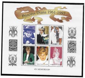 Sierra Leone MNH S/S 2090 Princess Diana