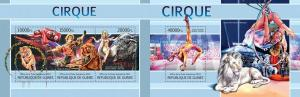 Guinea 2013 circus tigers wild animals klb+s/s MNH
