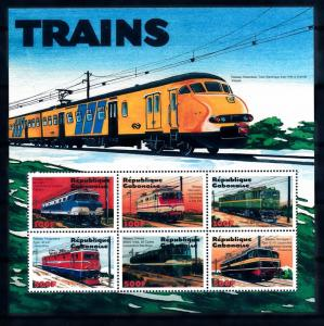 [62208] Gabon 2000 Railway Train Eisenbahn Chemin De Fer Sheet MNH