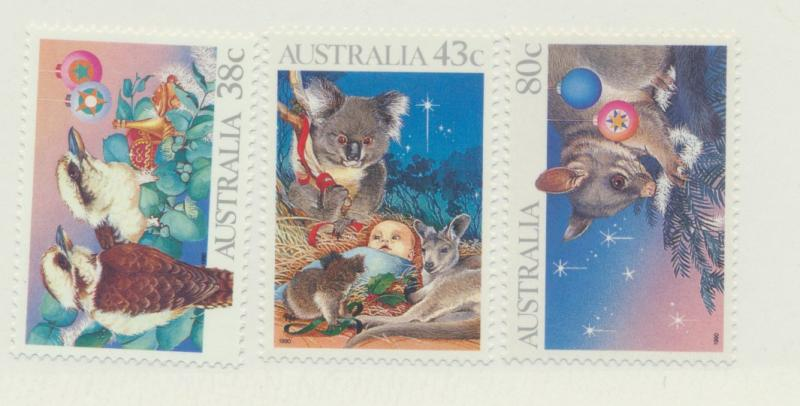 Australia Scott #1194 To 1196, Mint Never Hinged MNH, Christmas Issue From 19...