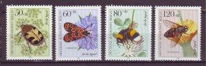 J24981 JLstamps 1984 germany berlin set mnh #9nb209-12 insects