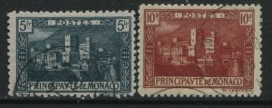 Monaco 1922 5 and 10 francs used