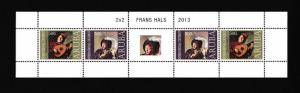 Aruba  #427  MNH  2013  sheet  with 2 pairs  frans hals paintings