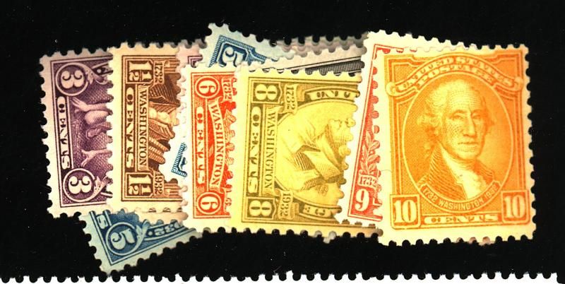 704-15 718-19 MINT F-VF OG NH Cat$38.15