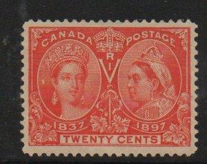 Canada Sc 59 1897 20c Victoria Jubilee stamp mint