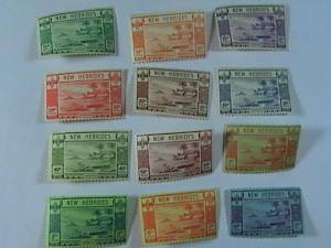 NEW HEBRIDES/BRITISH # 50-61-MINT/HINGED-COMPLETE SET-------GEOVI------1938