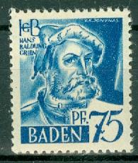 Germany - French Occupation - Baden - Scott 5N11 (SP)