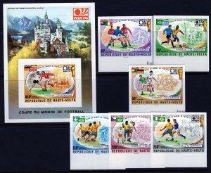 Burkina Faso (1974) #335-7, C193-5, C196 MNH