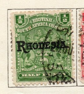 Rhodesia 1909 Early Issue Fine Used 1/2d. Optd NW-11490