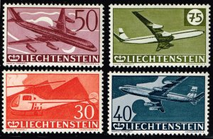 Liechtenstein Stamp 1960 Airmail - The 30th Anniversary of Airmail  MH/OG STAMPS
