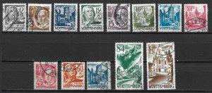 Germany 8N1-8N13 Occupation Stamps set Used (z1)