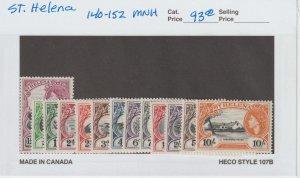 St. Helena 140-52 VF MNH