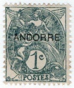 (I.B) Andorra Postal : Andorre 1c