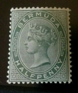 Bermuda: 1883 Queen Victoria halfpenny, dull green SG 21, unmounted mint