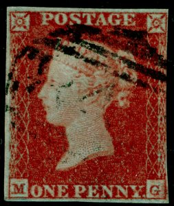 SG8, 1d red-brown PLATE 111, USED. Cat £42. MG