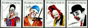 GIBRALTAR Sc#901-904 2002 Europa Clowns Complete Set OG Mint Hinged