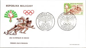 Madagascar, Worldwide First Day Cover, Olympics