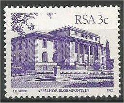 SOUTH AFRICA, 1985, MNH 3c purple, Definitives, Buildings Scott 568