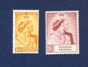 NORTHERN RHODESIA - 48-49 - VF very light hinged - Silver Wedding - 1948