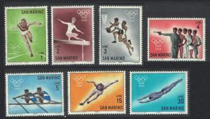 San Marino Olympic Games Tokyo 2nd issue 7v SG#743-749 SC#582-588