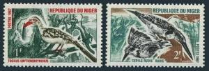 Niger 184-185,MNH.Michel 149-150. Birds 1967.Hornbill,Pied kingfisher.