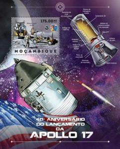 Mozambique MNH S/S Space Apollo 17 Mission 2012