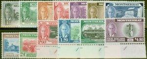 Montserrat 1951 set of 13 SG123-135 V.F MNH & VLMM