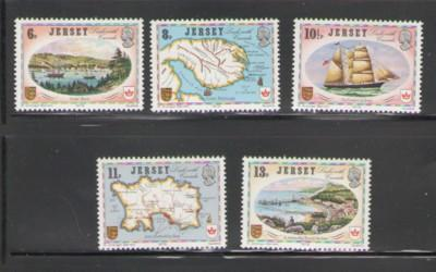 Jersey Sc 190-4 1978 Canada Links stamps mint NH