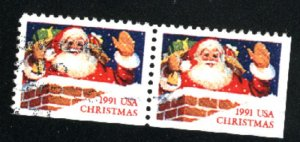 USA 2579  Pair   used VF  1991 PD