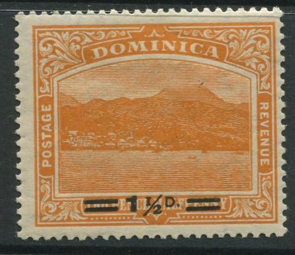 Dominica -Scott 55 - Overprint Issue -1920 -MLH -Single 1.1/2p on a 2.1/2p Stamp