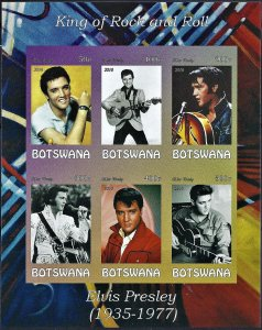 Botswana 2016 Elvis Presley mini souvenir sheet of 6 MNH Imperforate Musician