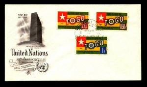 Togo 1960 Admission to UN FDC / Low Values - L9076